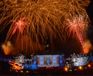 Laserfire lights and fireworks at BRNC Dartmouth